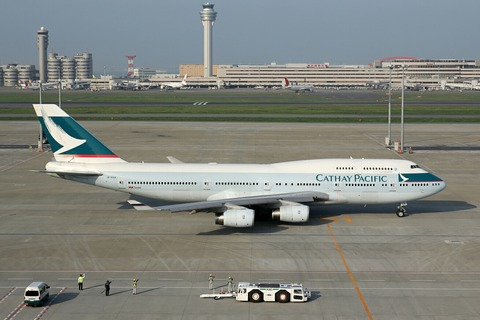 B-HUA B747-400 CPA RJTT 2012.4.28