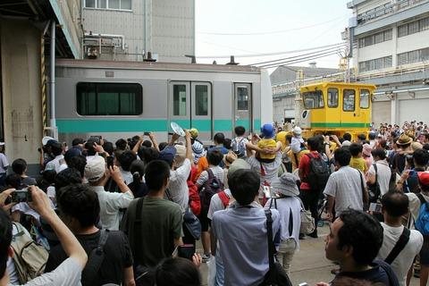 車体上げ下ろし実演 JR東日本東京総合車両センター 夏休みフェア2017