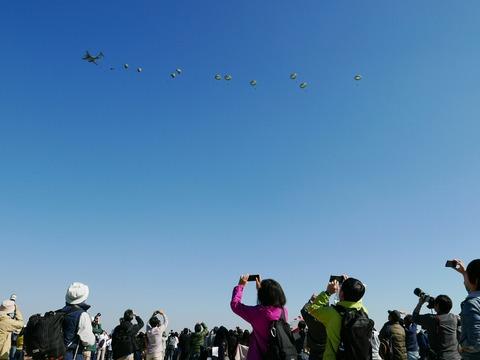 C-1 空挺降下 入間航空祭2018 航空自衛隊 入間基地