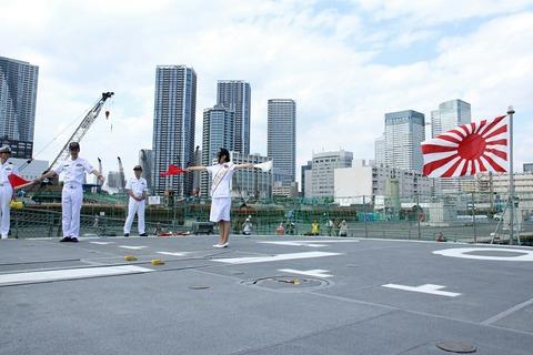 手旗信号 DD-107 護衛艦 いかづち 一般公開 第69回 東京みなと祭