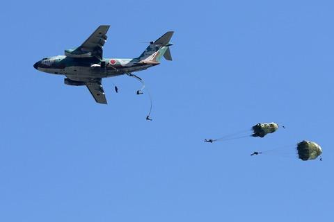 C-1 空挺降下 入間航空祭2017 航空自衛隊 入間基地