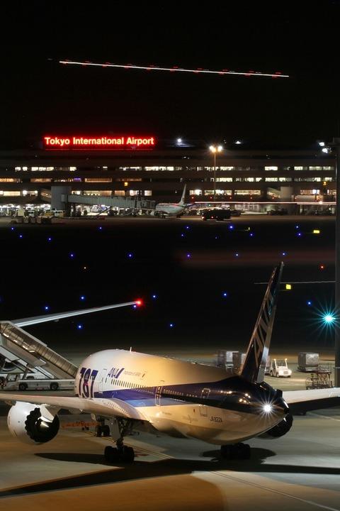 光跡 JA830Aデリバリー 羽田空港