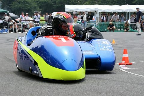 レーシング・サイドカー デモ走行 オートジャンボリー2018