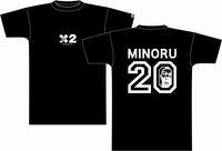 鈴木Tシャツ 黒×白