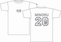 鈴木Tシャツ 白×グレー