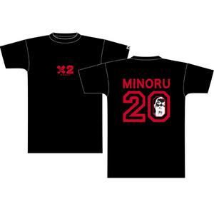 鈴木みのるTシャツ 黒×赤