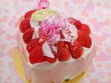 苺のバレンタインケーキ