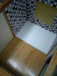 バスルームの床
