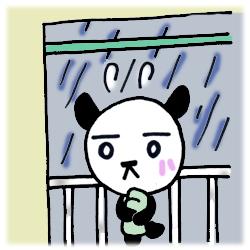 横なぐりの雨