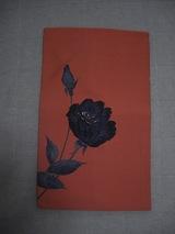 オレンジ薔薇名古屋帯