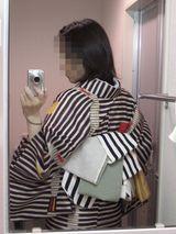 縞々単衣3