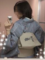 水色単衣×薔薇夏帯3
