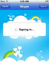 4 Skype signing in