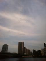 暑ち〜(隅田川の上の空)