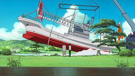 イカ釣り舟