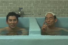 笹野さん、銭湯で