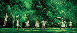 森の中グリーン