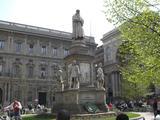 ミラノ、ダヴィンチ像