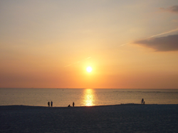 南紀白浜の夕日
