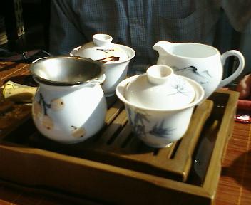 お茶で一時。