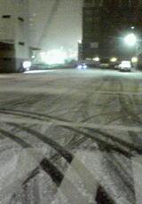 雪の真ん中