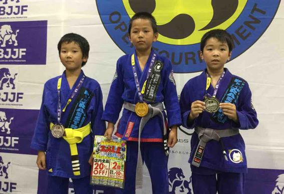 7/16 JBJJF 第1回関西キッズ柔術選手権で3支部7名が入賞!