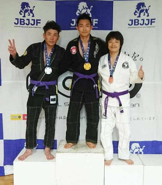 7/16 JBJJF 第1回東日本柔術新人選手権で3支部6名が入賞!