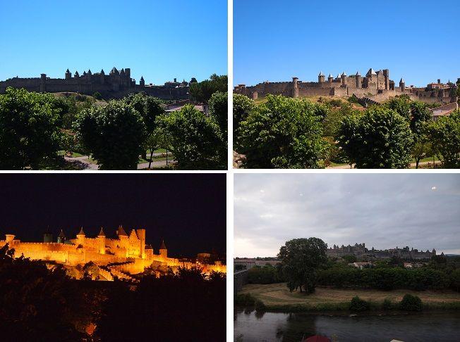 0342 待望のカルカソンヌのシテ(コンタル城)が見えてきます!