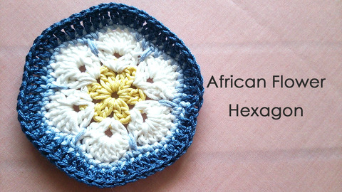 African Flower Hexagon * parineko *