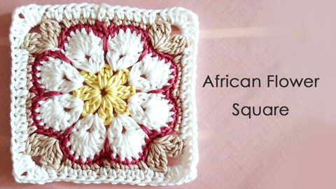 African Flower Square * parineko *
