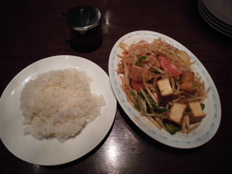 08揚げ豆腐と野菜の辛味炒めランチ