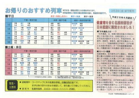281コースマップ(佐倉1703)裏