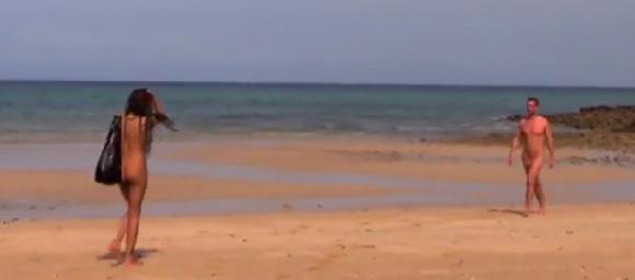 オランダで裸の男女が無人島でデートする番組w