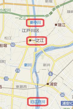 新中川地図
