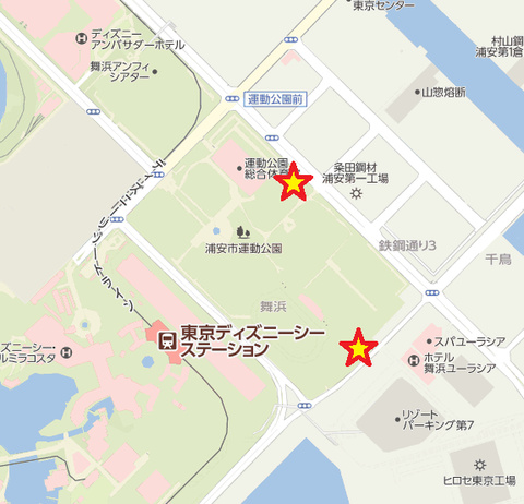 浦安運動公園駐車場