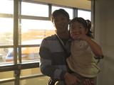 成田空港で