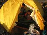 テント場で