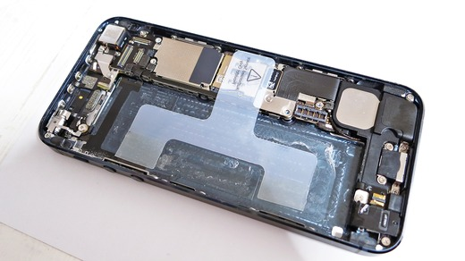 iPhone5バッテリー ビニールタブ