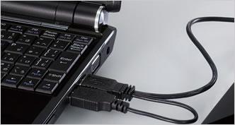 USBダブル給電ケーブル