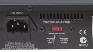ボルテージセレクター(電圧切り替え可能)ちなみにCREEK EVO-CD