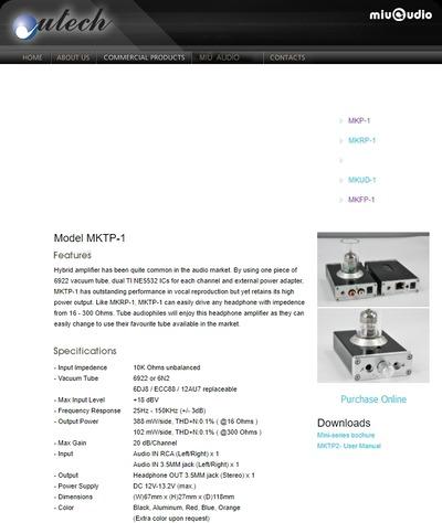 Miuaudio MKTP-2 official spac