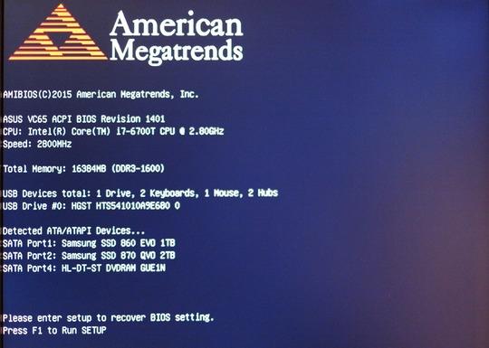 American Megatrends ASUS BIOS