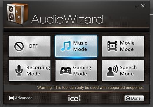 Bang & Olufsen ICEpower Audio Wizard