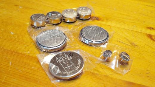 ボタン電池の捨て方 セロテープで絶縁