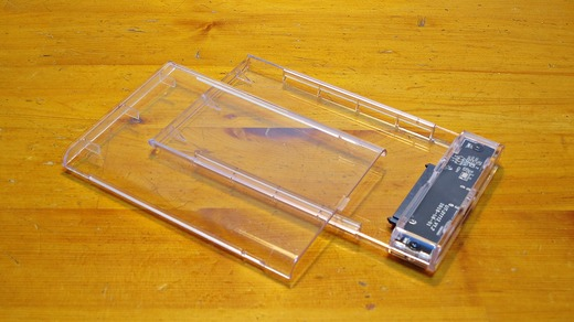 ELUTENG transparent HDD SSD ケース
