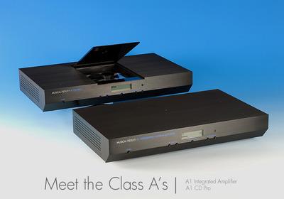 新型A1インテグレーテッドアンプ&A1CD_pro