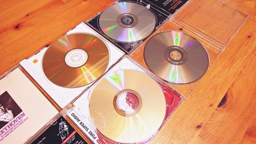 CD SACD SHM-CD ゴールドCD 反射率比較 目視