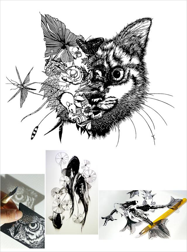 2017111107小さなギャラリー〜切り絵の世界〜チラシ