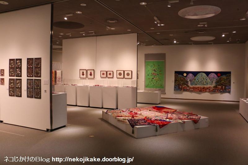 2018022211張英蘭 韓国刺繍コレクション展。2