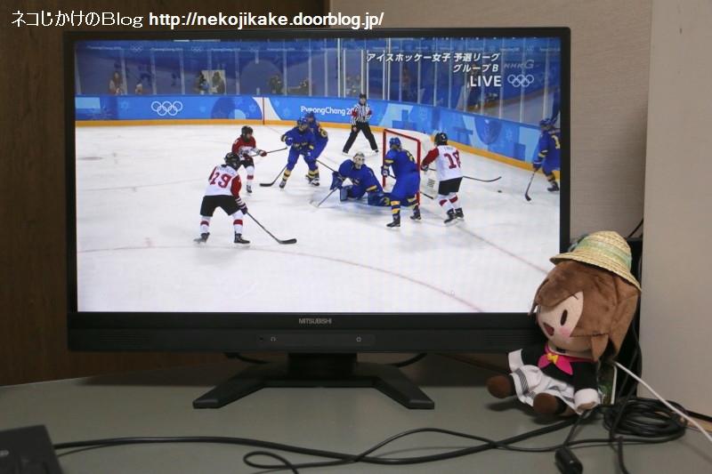 2018021002平昌五輪 アイスホッケー女子 日本vsスウェーデン。1